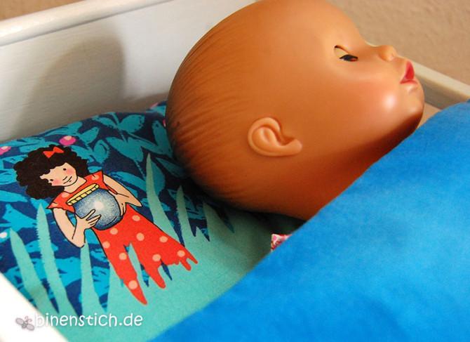 Bettwäsche fürs Puppenbett: Summer Night Lights, Wee Wander, Sarah Jane | binenstich.de