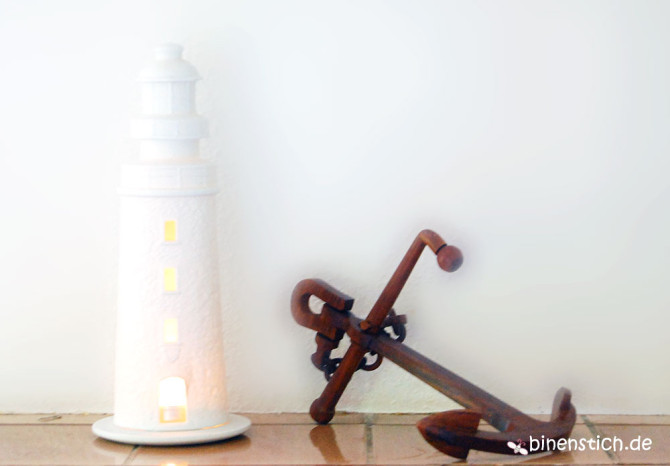 Maritime Deko: Leuchturm und Anker | binenstich.de