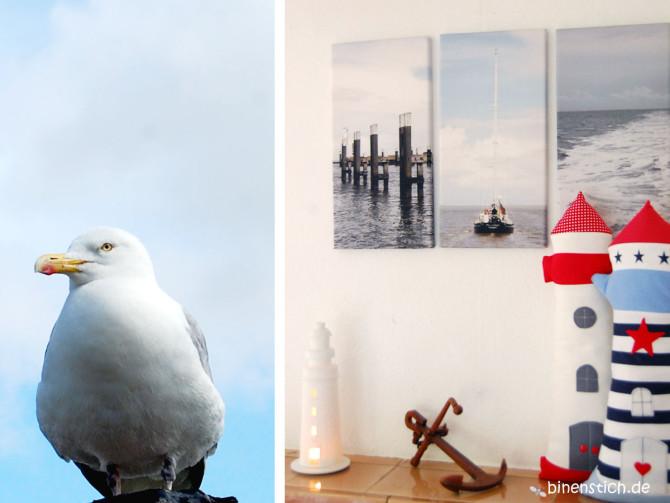 Maritime Deko: Leuchtturm-Kissen nähen | binenstich.de