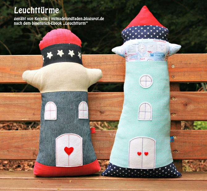 Leuchtturm-Duo, genäht von Kerstin |mitnadelundfaden.blogspot.de