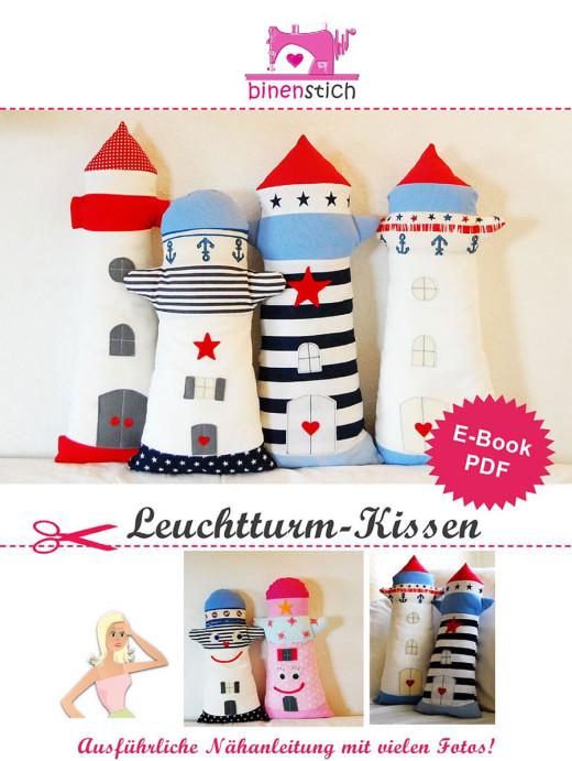 Leuchtturm-Kissen: Anleitung und Schnittmuster im Shop | binenstich.de