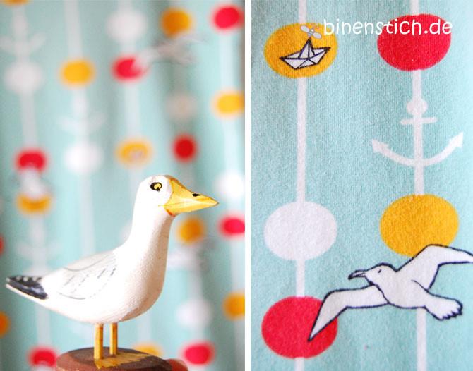 Kindernachthemd nähen: Maritim Dots von Lillestoff | binenstich.de