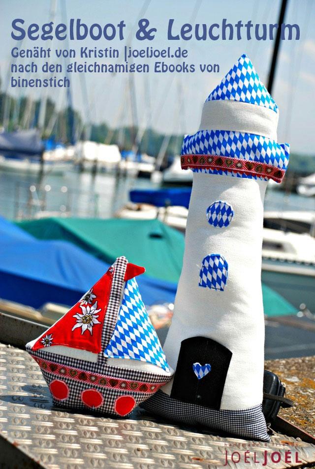 Maritimes aus Bayern: Leuchtturm und Segelboot von Kristin | joeljoel.de
