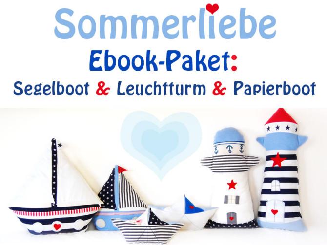 E-Book-Paket: Anleitungen für Leuchturm, Segelboot und Papierschiff | binenstich.de