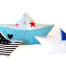 Papierboot-Kissen nähen: Anleitung Papierschiffchen nähen
