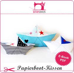 Papierschiffchen nähen