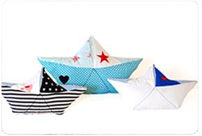 Papierboot als Kissen nähen: Anleitung Papierschiffchen nähen