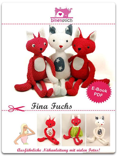 Fuchs nähen: Anleitung Fina Fuchs im binenstich-Shop