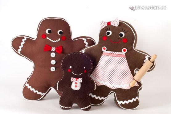 Lebkuchenmann naehen mit Familie