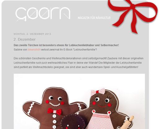 Lebkuchenfamilie im GAARN-Adventskalender, Dez. 2013