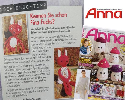 Fina Fuchs in der Anna - 9/2017
