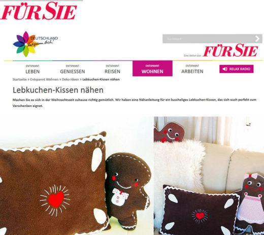 """Das Lebkuchenkissen bei """"Deutschland entspann dich"""" von Für Sie"""