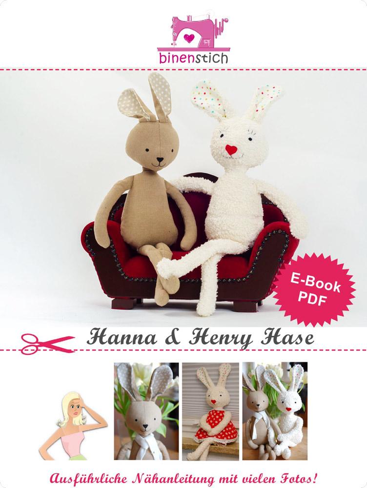 Hase Schnittmuster: Hanna und Henry Hase nähen