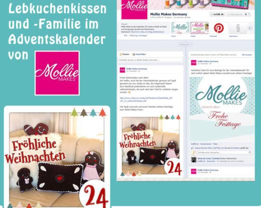 Lebkuchenkissen im Mollie-Makes-Adventskalender, Dez. 2013