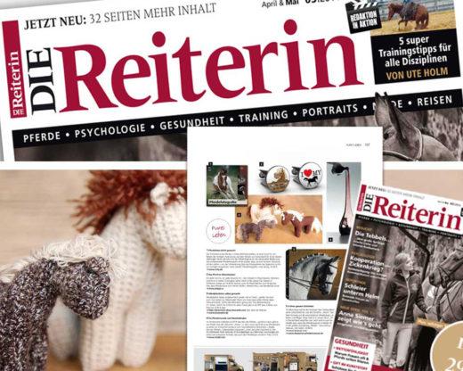 """Das Häkelpferdchen in der Rubrik """"Pures Leben"""" von """"Die Reiterin"""" 3/2014"""
