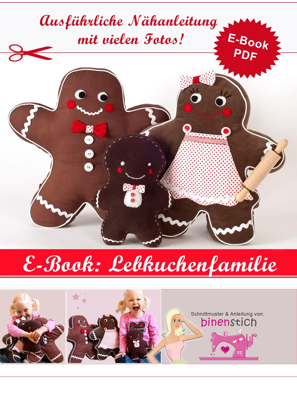 Lebkuchenmann + Familie nähen: Anleitung für Weihnachten   Binenstich
