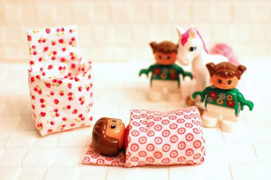 Schlafsack nähen für Mini-Puppen wie Lego Duplo