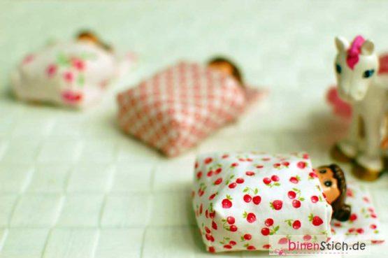 Bettdecke, Bettzeug, Schlafsack passend für Mini-Figuren wie Lego Duplo et.