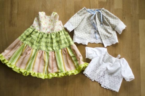 Sommerkleid nähen Stufenkleid Bluse für Stofftier Anleitung