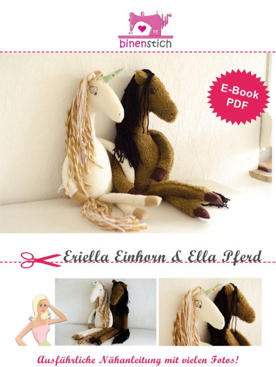 Anleitung Einhorn Pferd nähen Eriella Ella